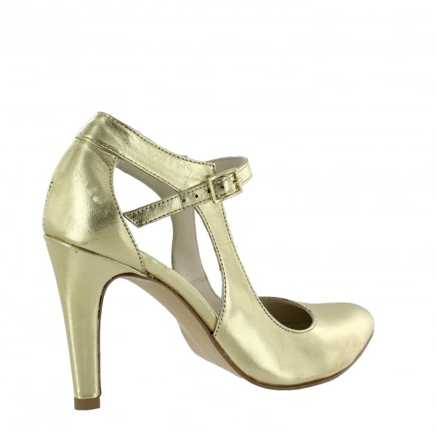 Marta Jonsson Womens Open Court Shoe 5520L Gold