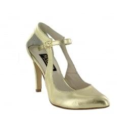 Marta Jonsson Womens Open Court Shoe 5520L Gold Shoes
