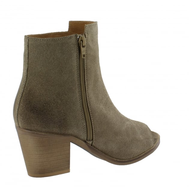 Marta Jonsson Womens Peep Toe Ankle Boots 4862S Taupe Boots