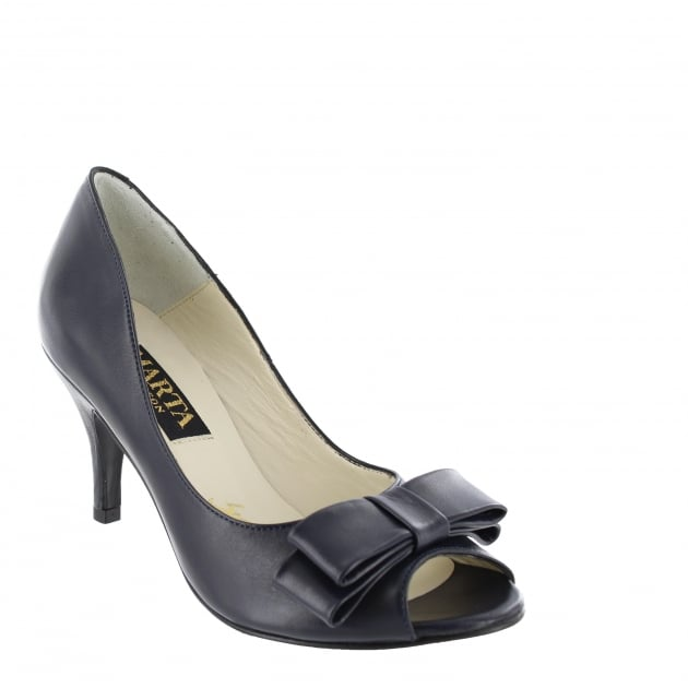 Marta Jonsson Womens Peep Toe Court Shoe 1518L Navy