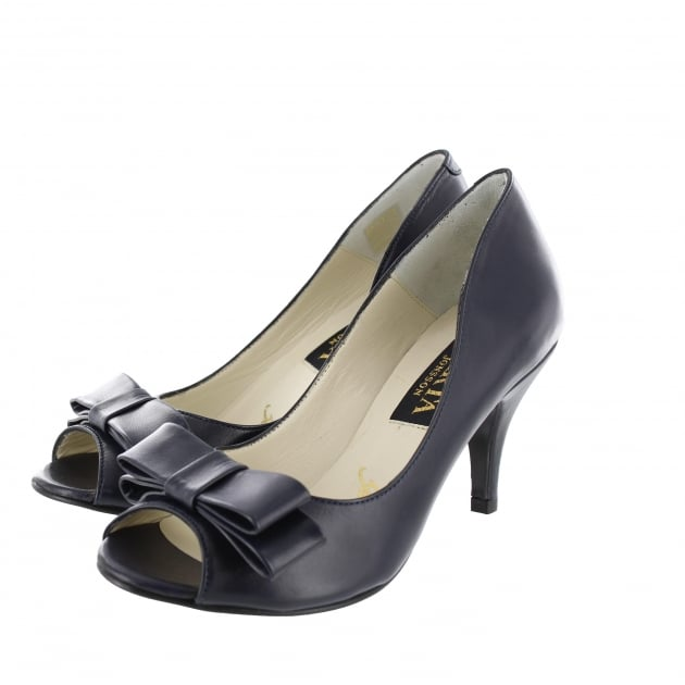 Marta Jonsson Womens Peep Toe Court Shoe 1518L Navy Shoes