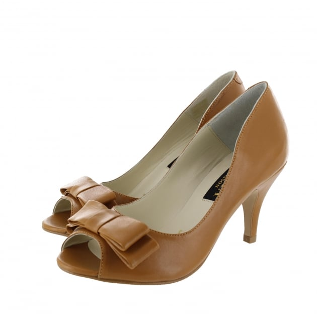 Marta Jonsson Womens Peep Toe Court Shoe 1518L Tan