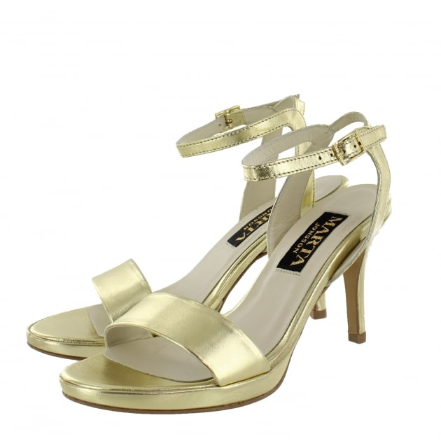 Marta Jonsson Womens Sandal 1507L Gold Sandals