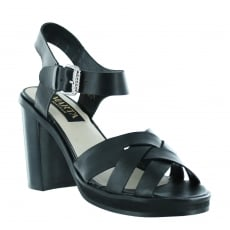 Marta Jonsson Womens Sandal With A Platform 1463L Black Sandals