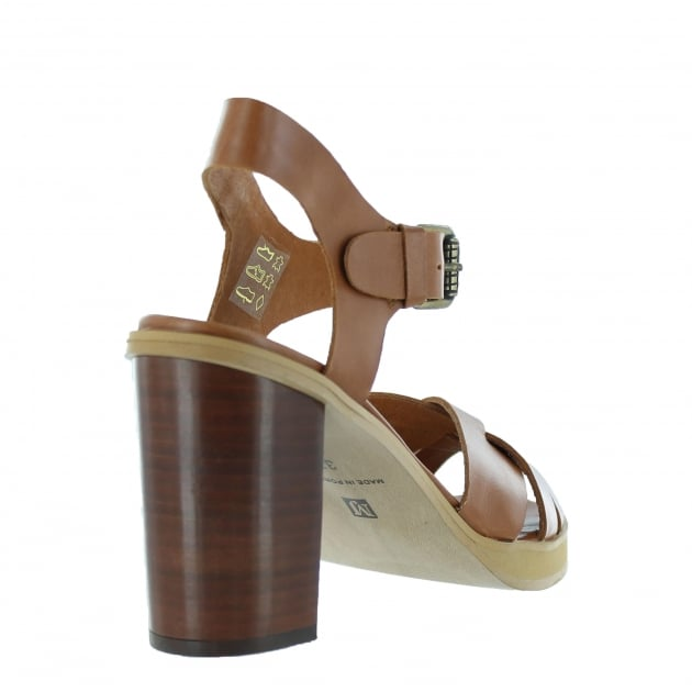 Marta Jonsson Womens Sandal With A Platform 1463L Tan