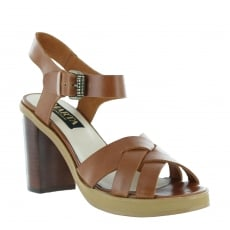Marta Jonsson Womens Sandal With A Platform 1463L Tan Sandals