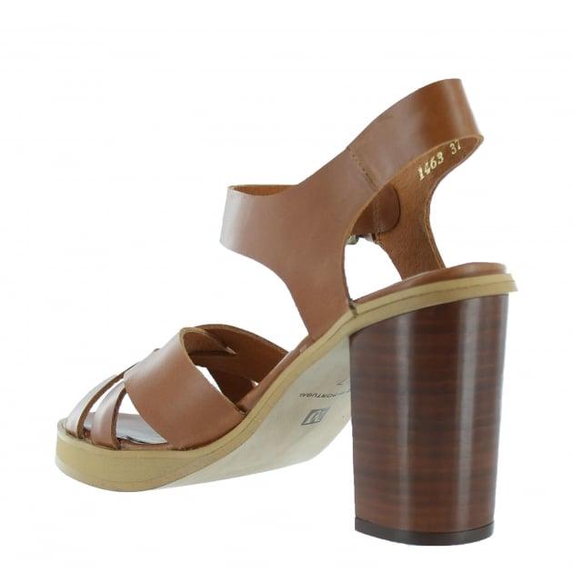 Marta Jonsson Womens Sandal With A Platform 1463L Tan Sandals