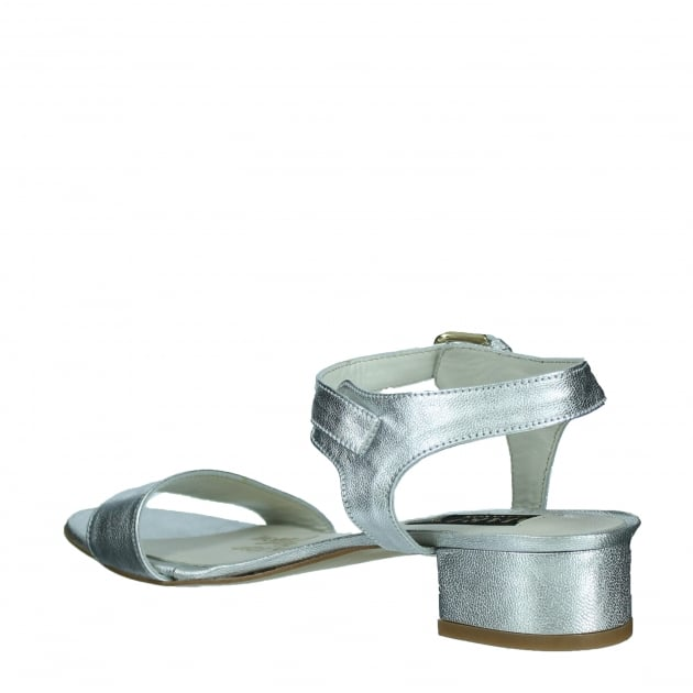Marta Jonsson Womens Sandal With Buckle 2107L Silver