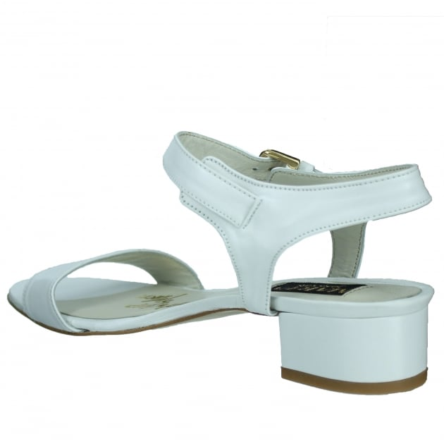 Marta Jonsson Womens Sandal With Buckle 2107L White Sandals