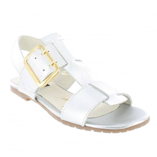 Womens Sandals With Buckles 10761L Silver