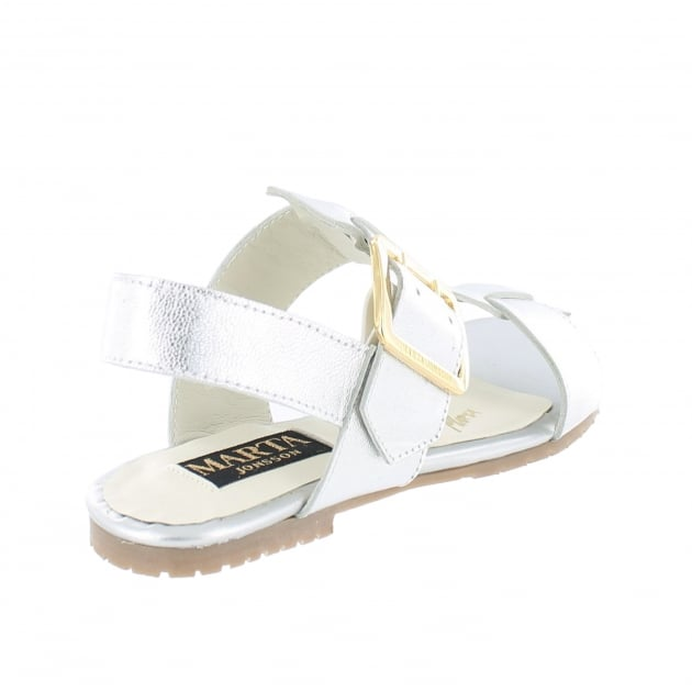 Marta Jonsson Womens Sandals With Buckles 10761L Silver