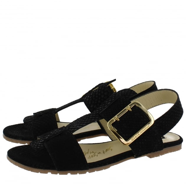 Womens Sandals With Buckles 10761S Black