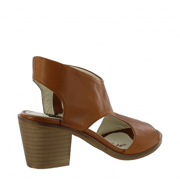 Marta Jonsson Womens Sandals With Chunky Heel 6041L Tan