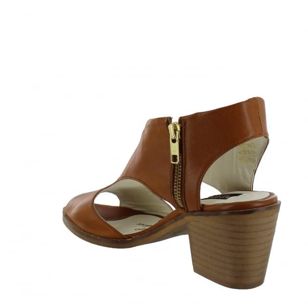 Marta Jonsson Womens Sandals With Chunky Heel 6041L Tan Sandals