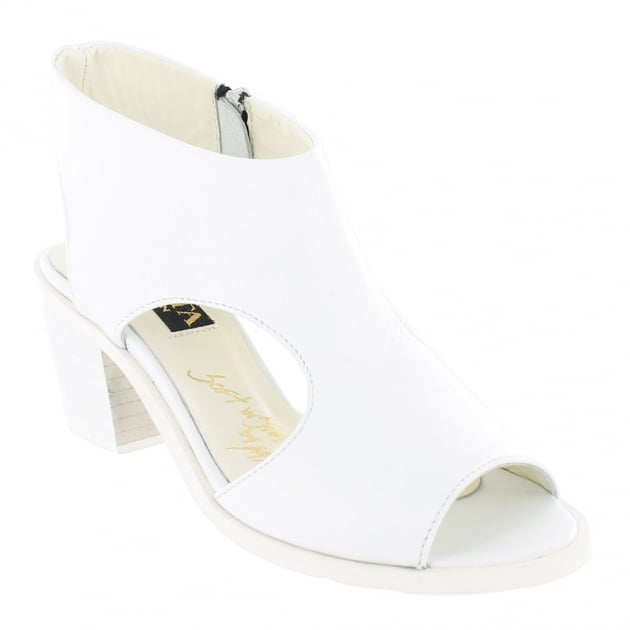 Womens Sandals With Chunky Heel 6041L White