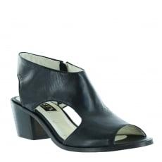 Marta Jonsson Womens Sandals With Chunky Heel 6041N Black Sandals