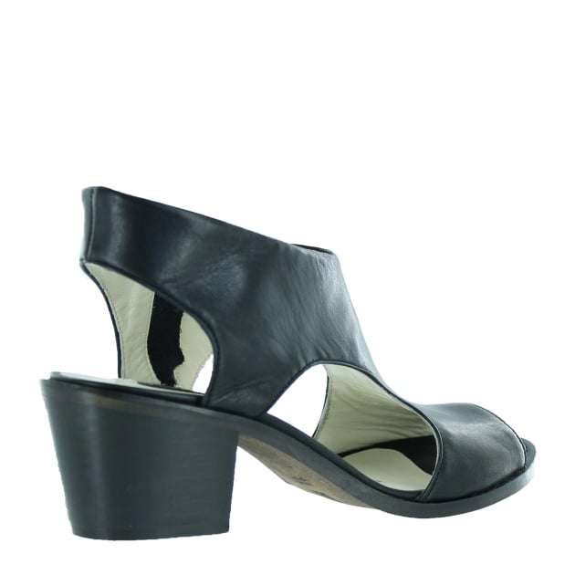 Marta Jonsson Womens Sandals With Chunky Heel 6041N Black Sandals