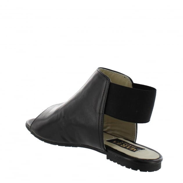 Womens Slingback Flat Sandal 6621L Black