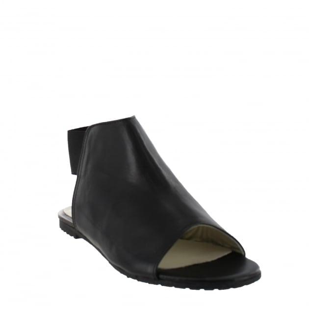 Marta Jonsson Womens Slingback Flat Sandal 6621L Black Sandals