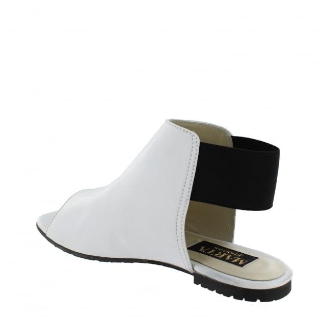 Marta Jonsson Womens Slingback Flat Sandal 6621L White Sandals