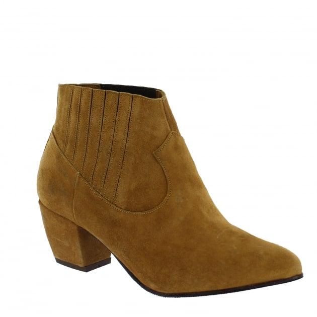 Marta Jonsson Womens Slip On Ankle Boot 2136S Tan Boots