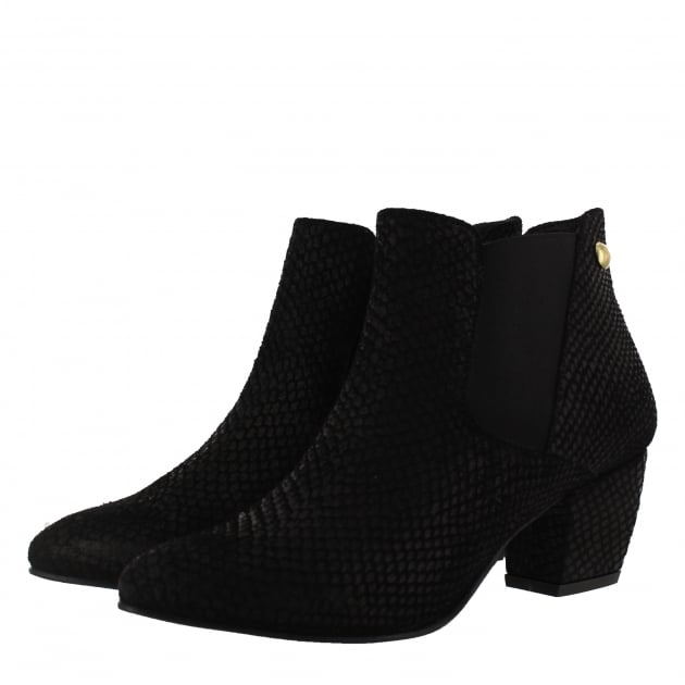 Marta Jonsson Womens Slip On Ankle Boot 2161S Black