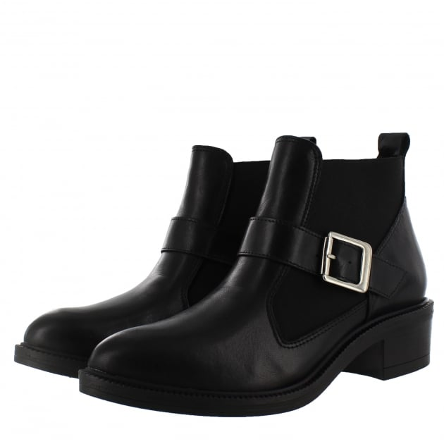 Marta Jonsson Womens Slip On Ankle Boot 4181L Black