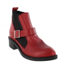 Marta Jonsson Womens Slip On Ankle Boot 4181L Red