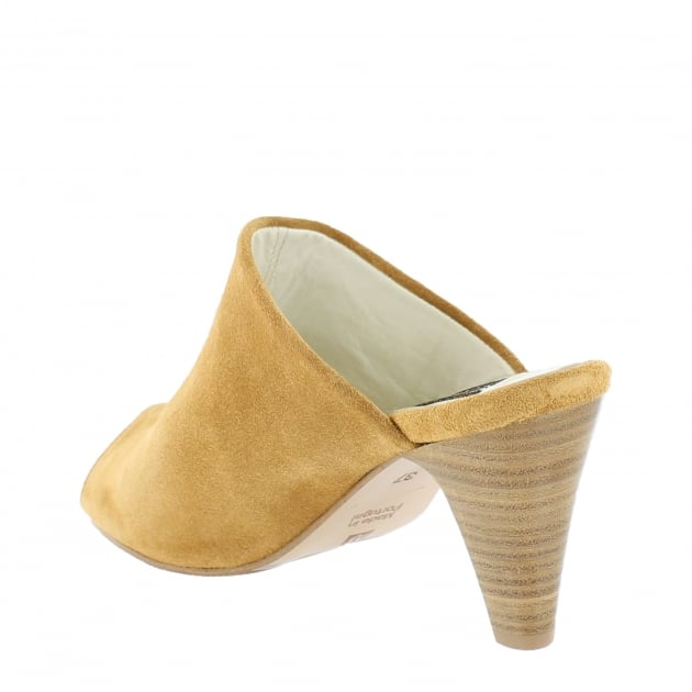 Womens Slip On High Heeled Shoe 4751S Tan