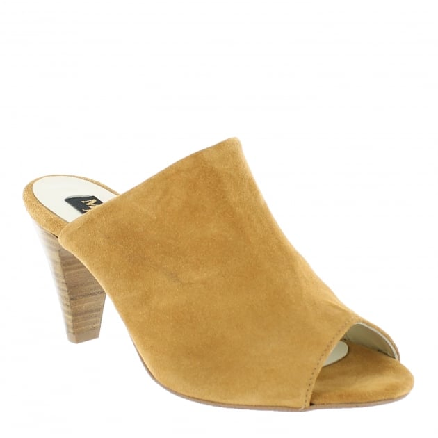 Marta Jonsson Womens Slip On High Heeled Shoe 4751S Tan Shoes