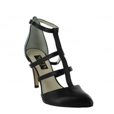 Marta Jonsson Womens Strappy Court Shoes 1516L Black