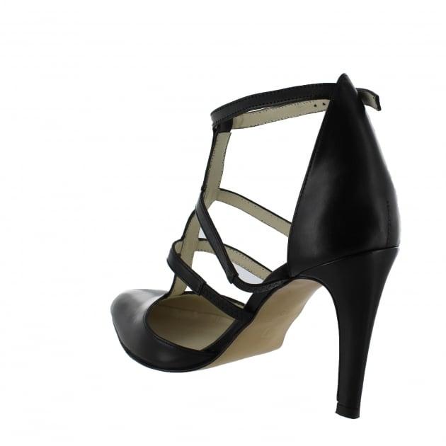 Marta Jonsson Womens Strappy Court Shoes 1516L Black Shoes