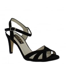 Marta Jonsson Womens Strappy Heeled Sandals 1509S Black Sandals