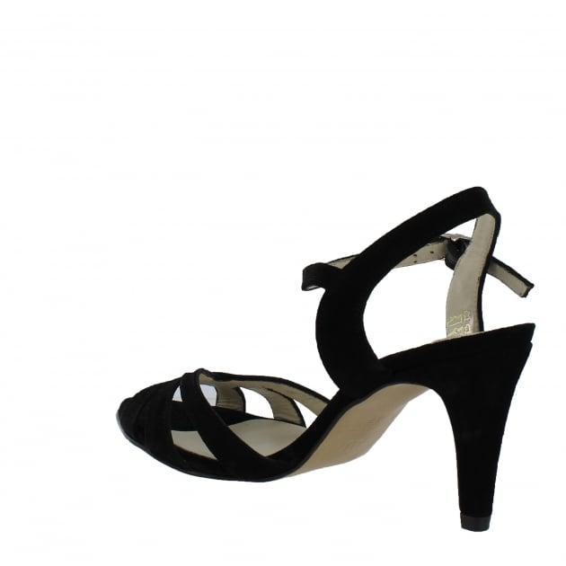 Marta Jonsson Womens Strappy Heeled Sandals 1509S Black Sandals