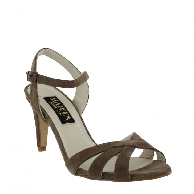 Marta Jonsson Womens Strappy Heeled Sandals 1509S Taupe