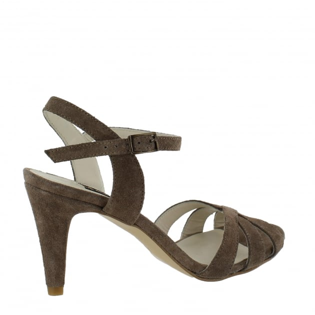 Marta Jonsson Womens Strappy Heeled Sandals 1509S Taupe Sandals