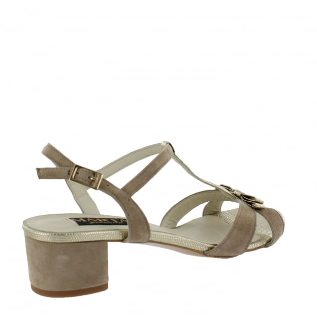 Womens T Bar Sandal 2109S Beige