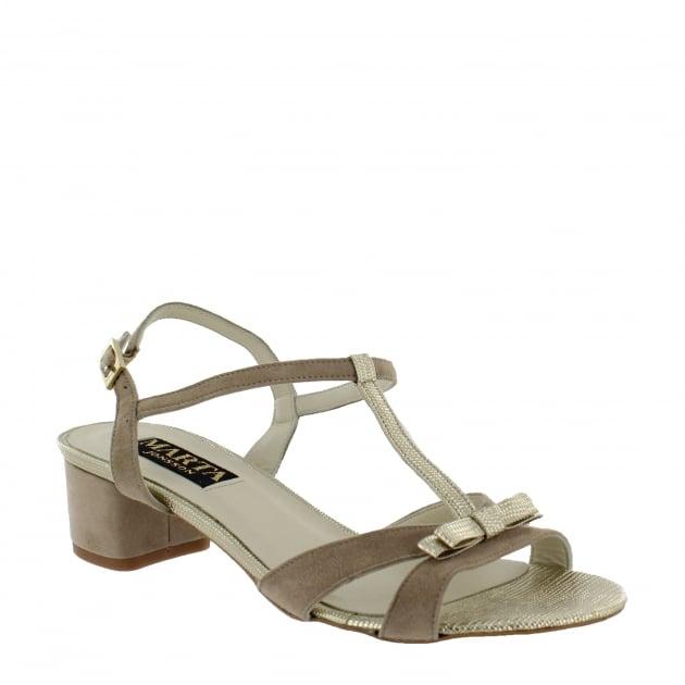 Marta Jonsson Womens T Bar Sandal 2109S Beige Sandals