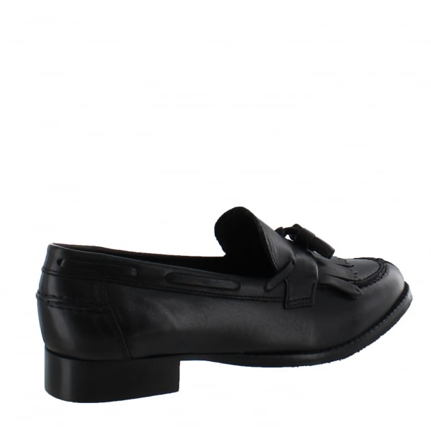 Marta Jonsson Womens Tassel Loafers 1079L Black
