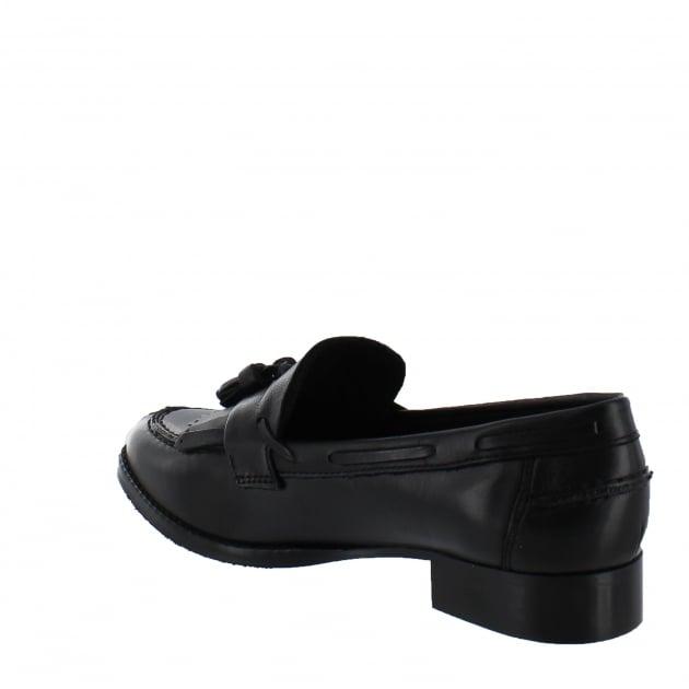 Marta Jonsson Womens Tassel Loafers 1079L Black