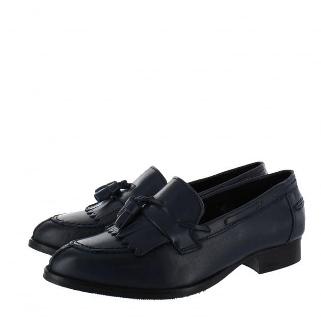 Marta Jonsson Womens Tassel Loafers 1079L Navy