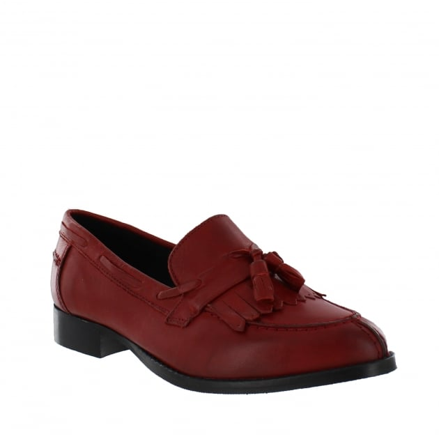 Marta Jonsson Womens Tassel Loafers 1079L Red