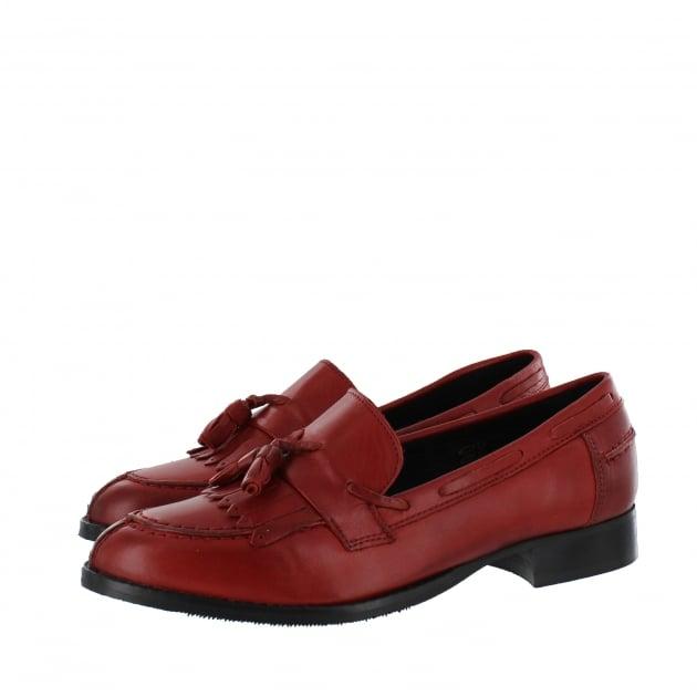 Marta Jonsson Womens Tassel Loafers 1079L Red
