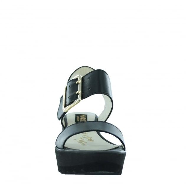 Marta Jonsson Womens Wedge Sandals 1471L Black Sandals