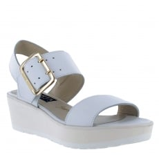 Marta Jonsson Womens Wedge Sandals 1471L White