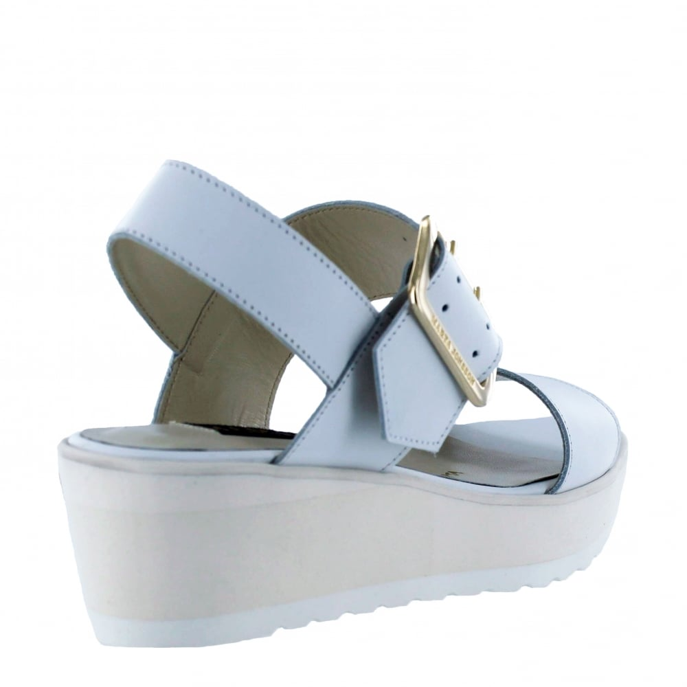 marta jonsson womens wedge sandals 1471l white shoes co uk