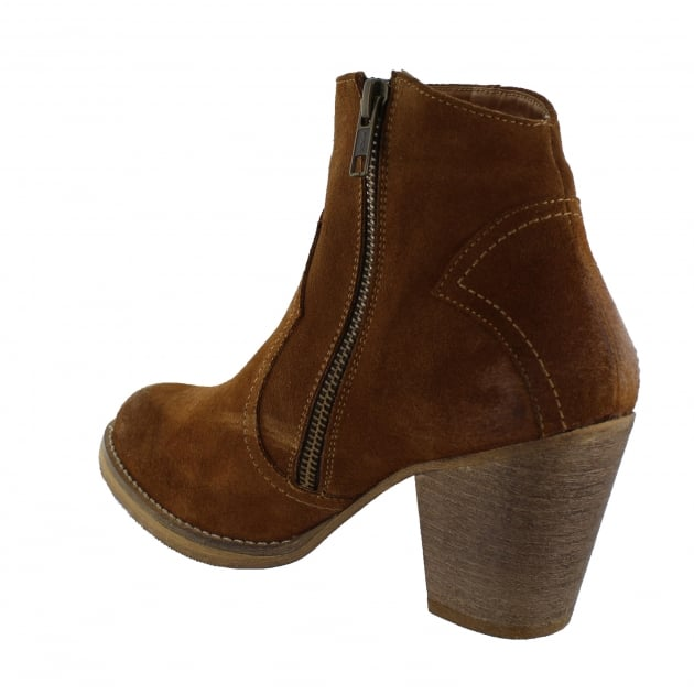 Womens Western Ankle Boot 6719S Cognac