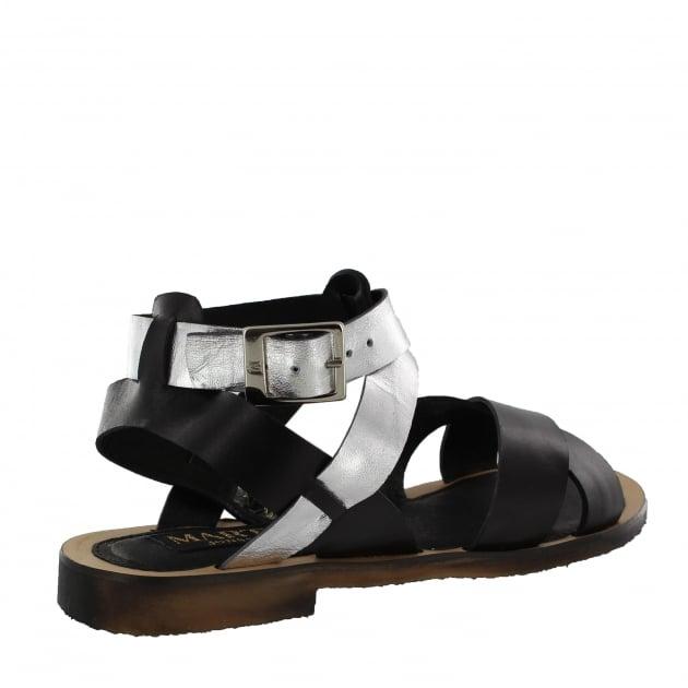 Marta Jonsson Womens X-Strap Flat Sandal 6682L Black
