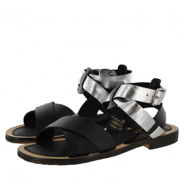Womens X-Strap Flat Sandal 6682L Black