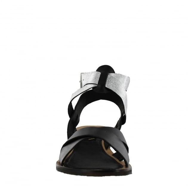 Marta Jonsson Womens X-Strap Flat Sandal 6682L Black Sandals